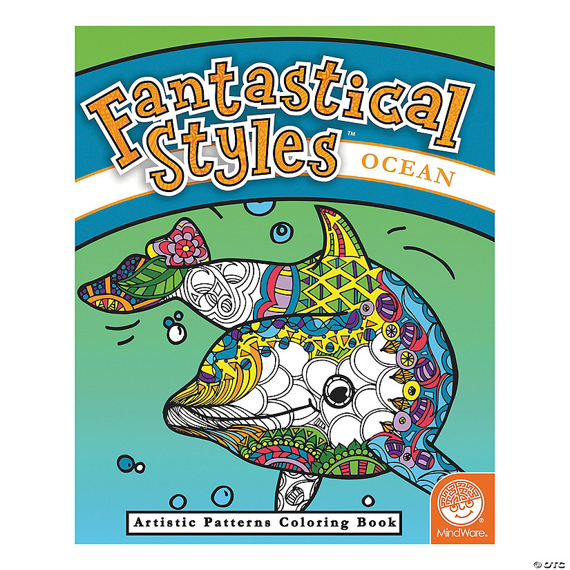 MindWare® Fantastical Styles: Ocean Adult Coloring Book