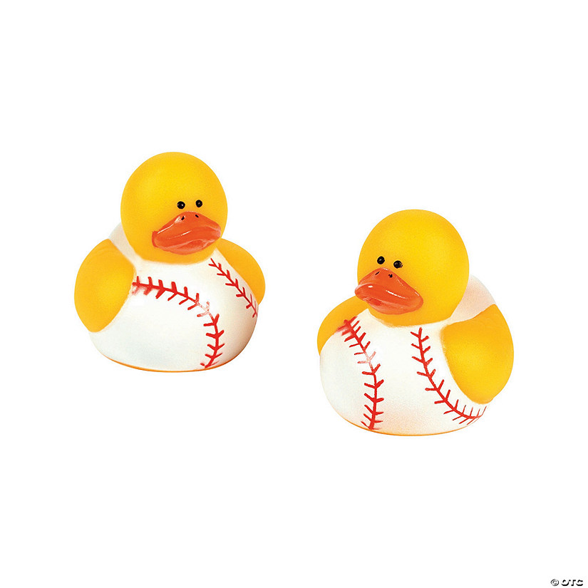 Mini Baseball Rubber Duckies