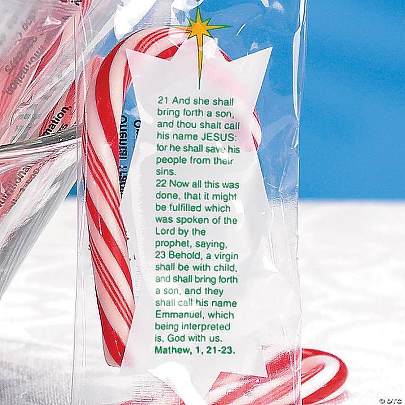 Mini Bible Verse Candy Canes