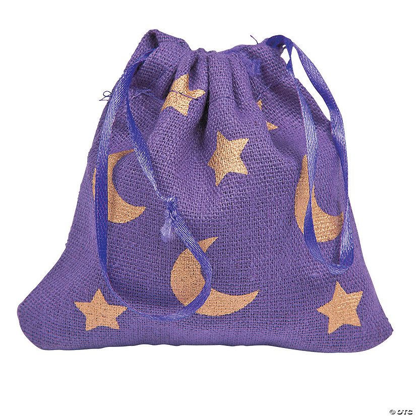 Mini Canvas Wizard Drawstring Bags