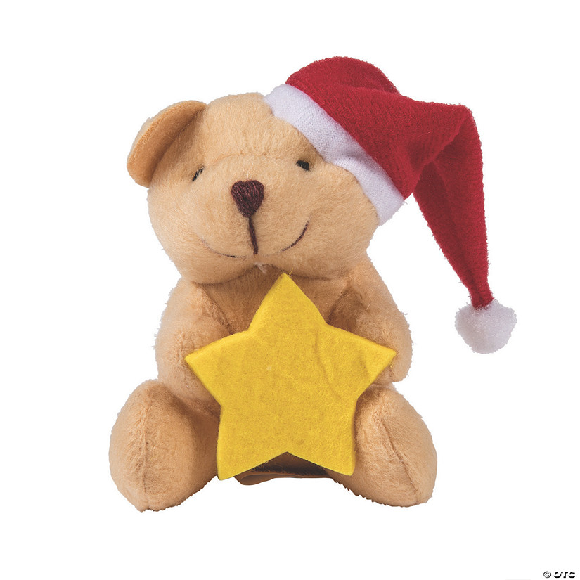 Mini Christmas Stuffed Bears with Star
