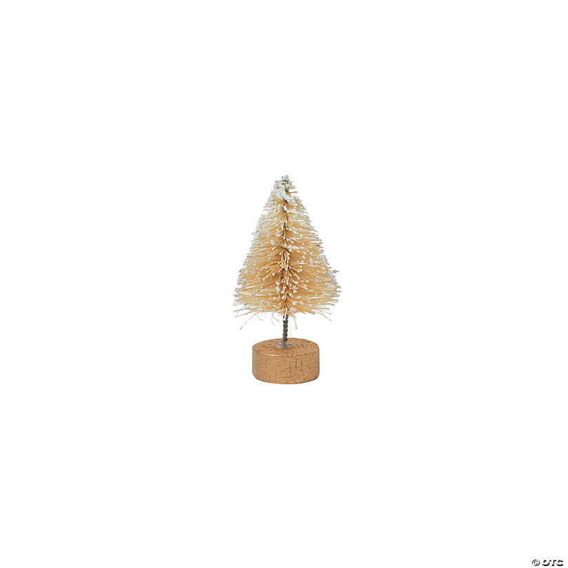 Mini Cream Frosted Sisal Trees