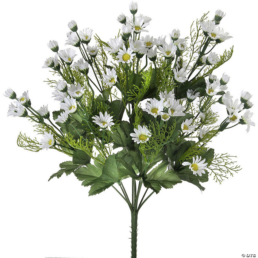 "Mini Daisy Bush X12 18""-White"