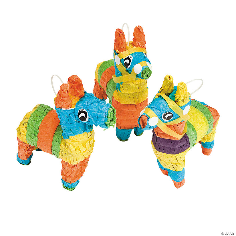 Mini Donkey Piñata Decorations