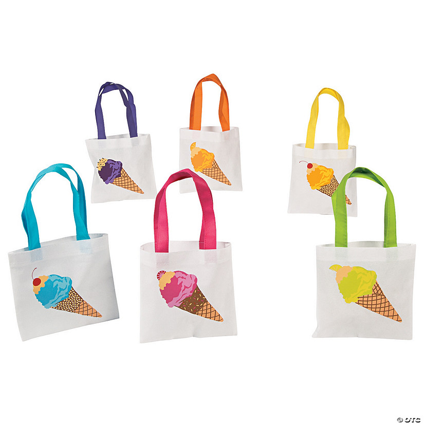Mini Ice Cream Tote Bags