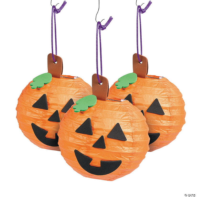 Mini Jack-O'-Lantern Paper Lantern Craft Kit