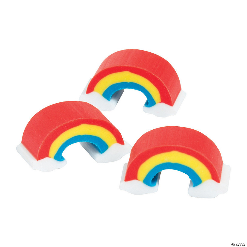 Mini Rainbow Erasers