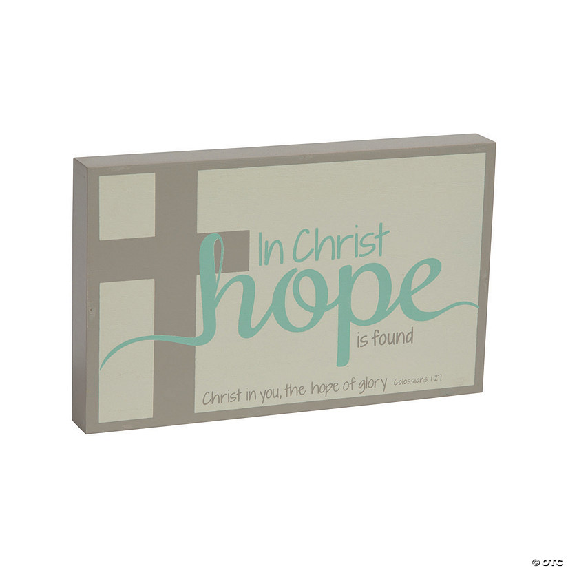 Mini Religious Hope Tabletop Sign