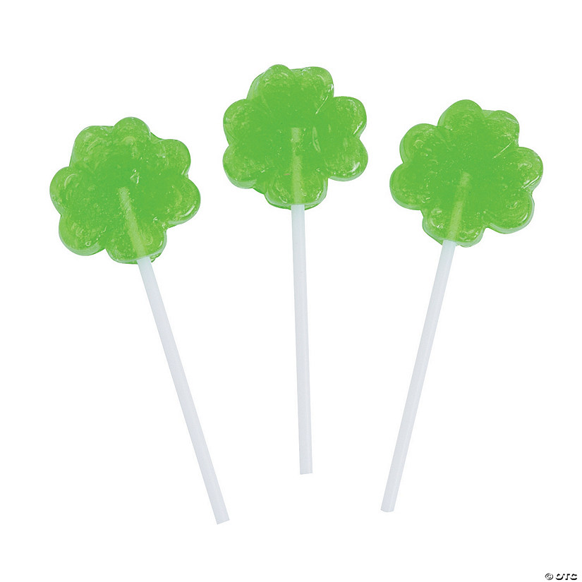 Mini Shamrock Lollipops