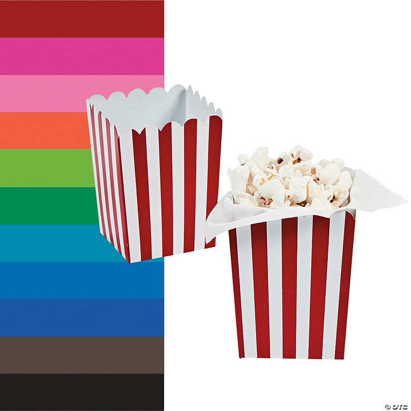 Mini Striped Popcorn Boxes