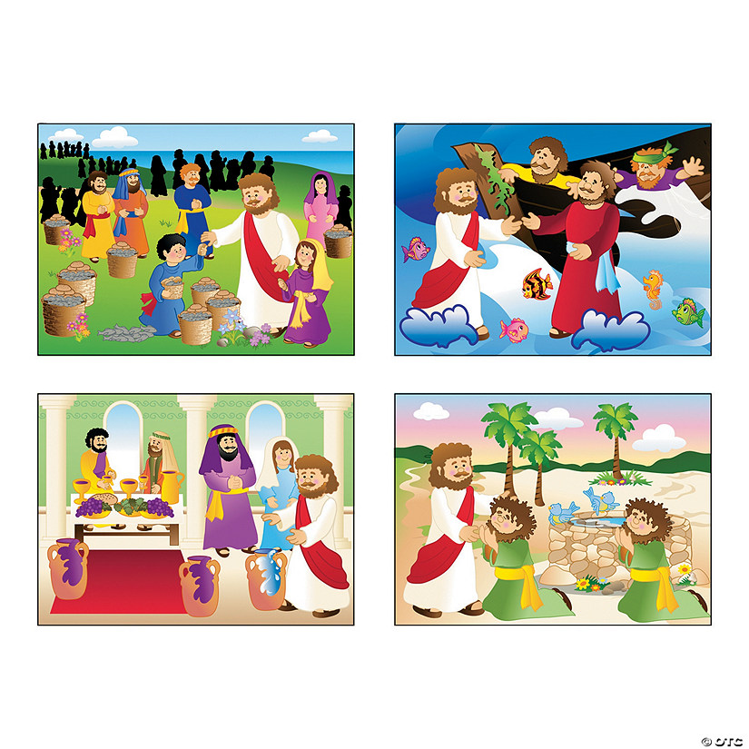 Miracle of Jesus Mini Sticker Scenes