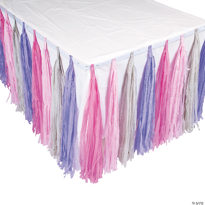 Miss Sock Monkey Party Fringe Table Skirt
