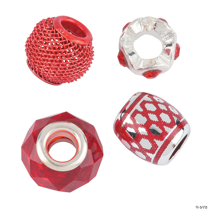 Mix & Match Red Large Hole Beads