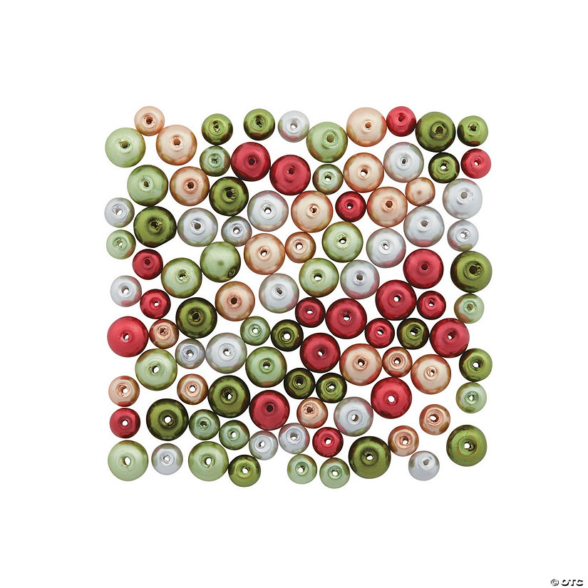 Modern Christmas Pearl Bead Assortment