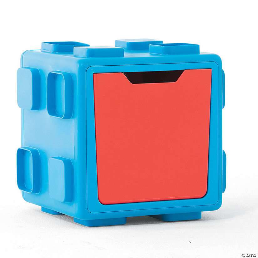 Modular Toy Storage Box: Blue/Red
