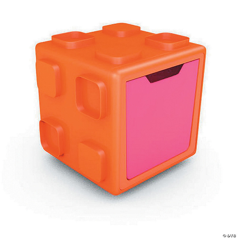 Modular Toy Storage Box: Orange/Pink