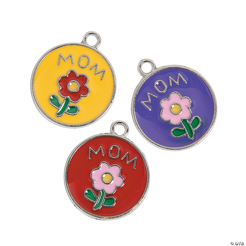 Mom Enamel Charms