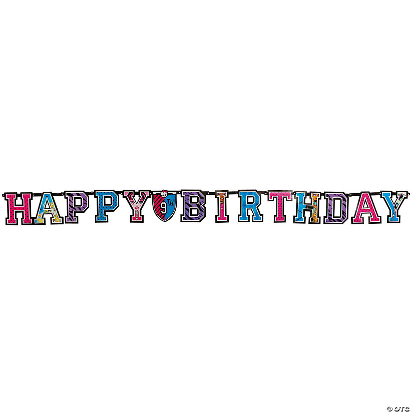 "Monster High™ Add-An-Age ""Happy Birthday"" Jointed Banner"