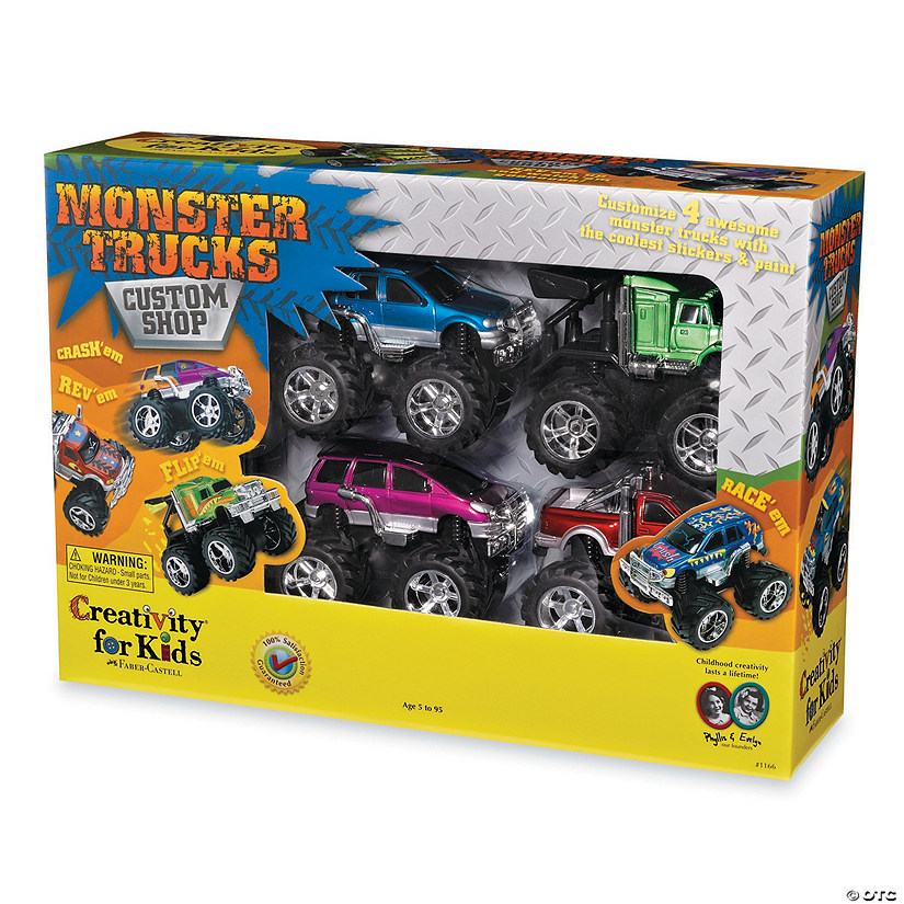 Monster Trucks Custom Shop 4-Pack