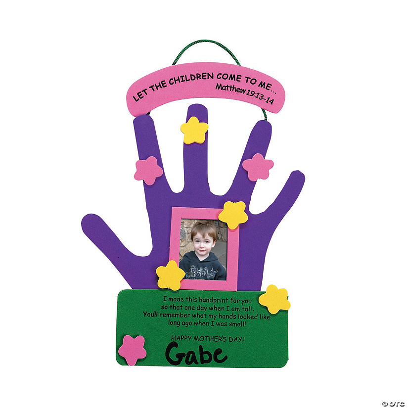 Mother s day hand keepsake picture frame craft kit for Mother s day craft kits