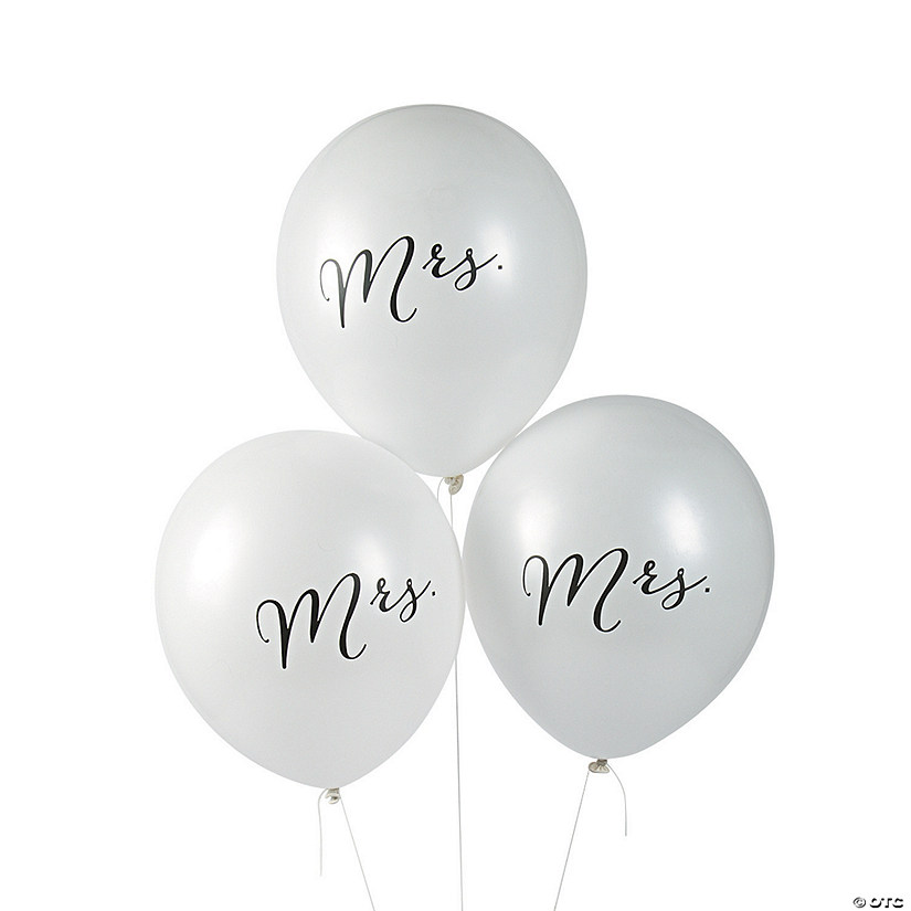 "Mrs. 11"" Latex Balloons"