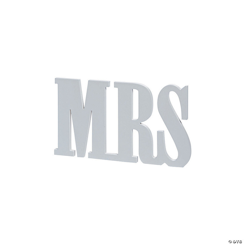 Mrs. Tabletop Sign