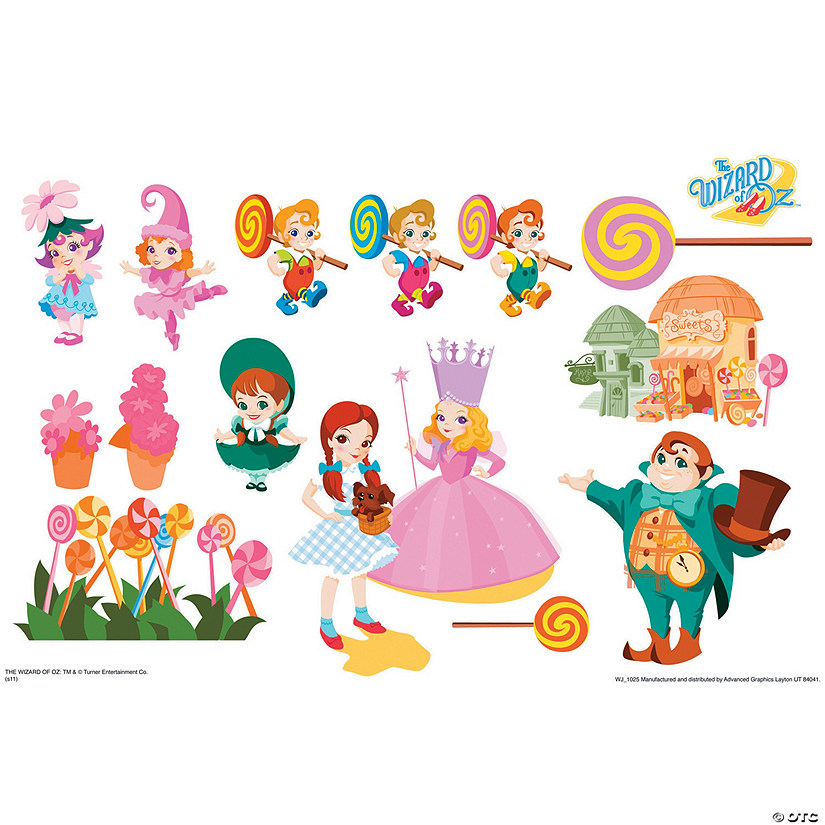 Munchkinland - Wizard of Oz Kids Art Large Wall Jammer™ Wall Decal