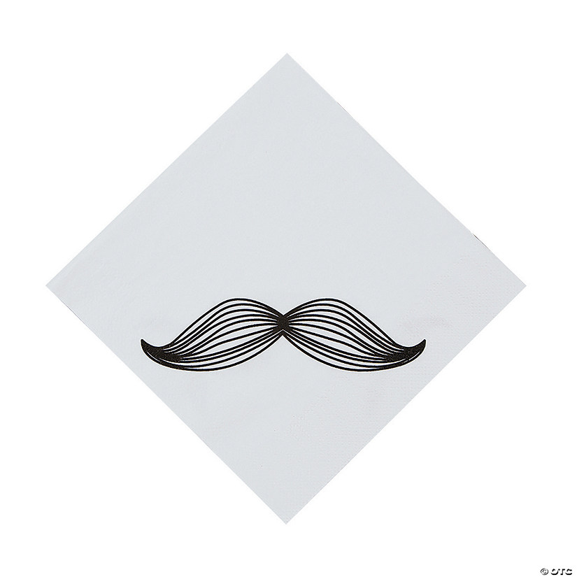 Mustache Party Luncheon Napkins