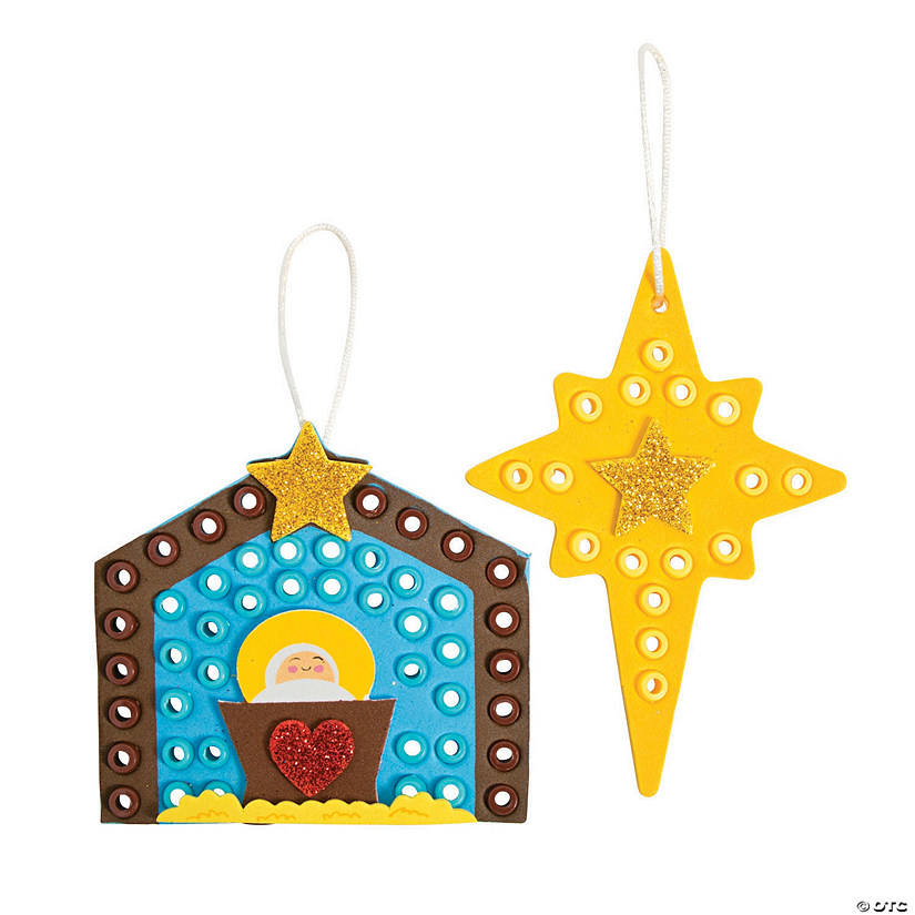 Nativity Scene & Star Ornament Craft Kit