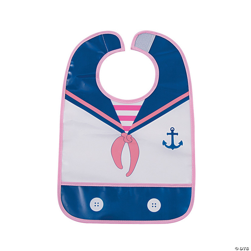 Nautical Girl Bib