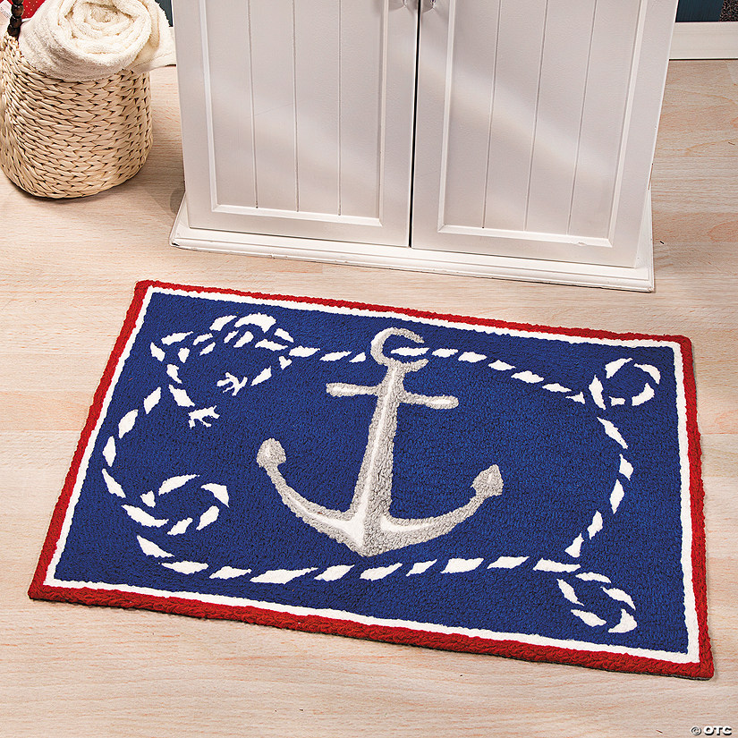 Anchor Rugs: Nautical Hooked Rug