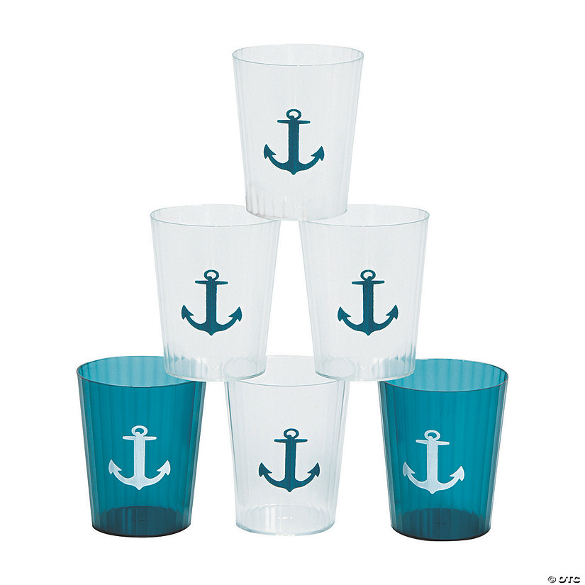 Nautical Plastic Shot Glasses