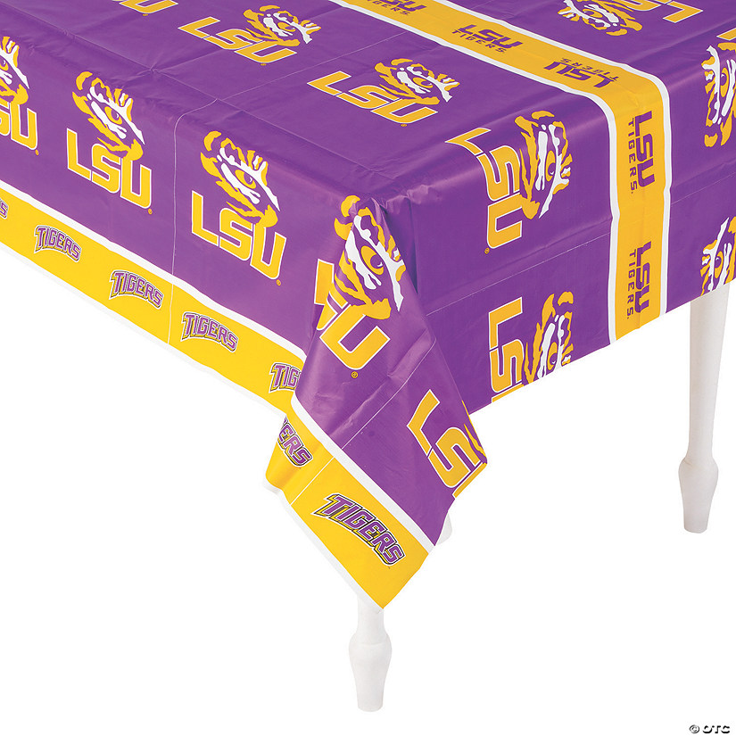 NCAA® LSU Tigers Plastic Tablecloth