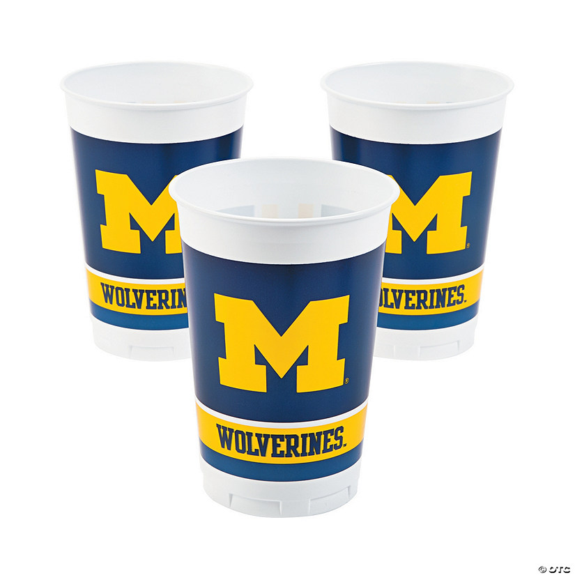 NCAA™ Michigan Plastic Cups