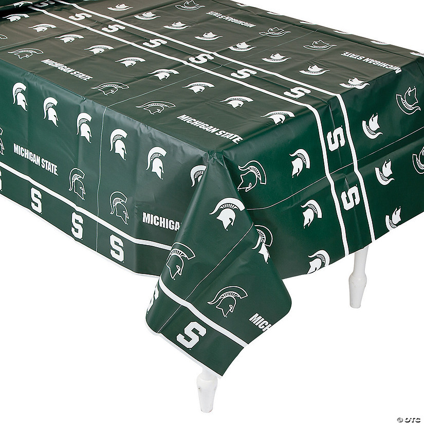 NCAA® Michigan State Plastic Tablecloth