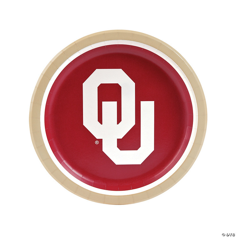 NCAA™ Oklahoma Sooners® Party Paper Dinner Plates