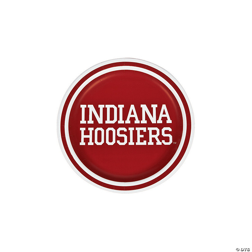 NCAA™ University of Indiana Paper Dessert Plates