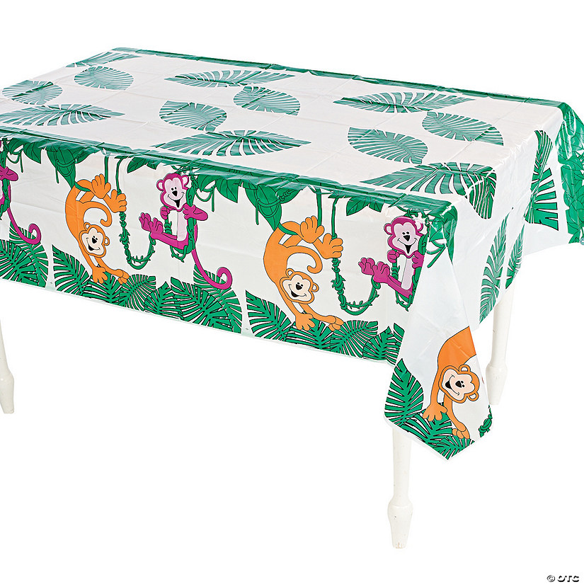 Neon Monkey Plastic Tablecloth