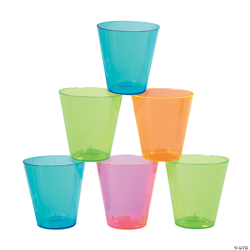 Neon Plastic Shot Glasses