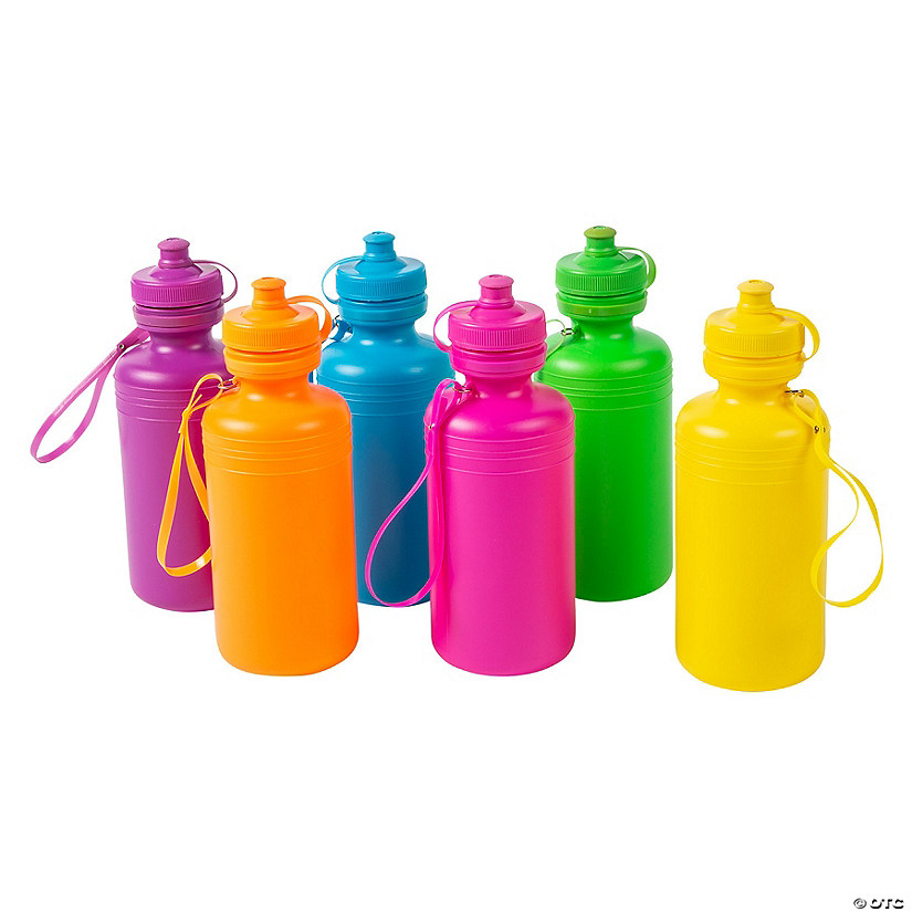 Neon Plastic Water Bottles