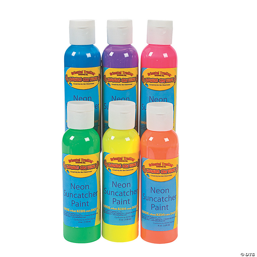 Neon Suncatcher Paint Set