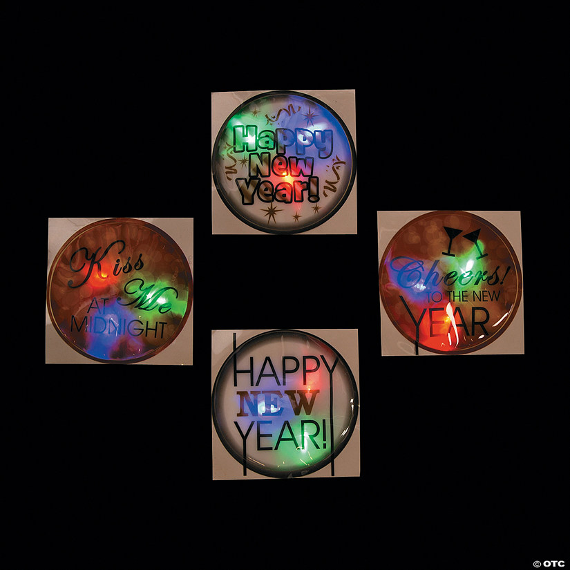 New Year's Eve Light-Up Badges