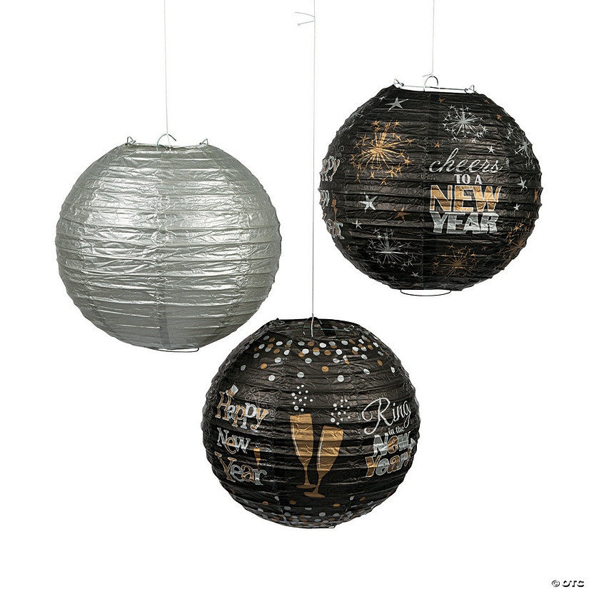 New Year's Hanging Paper Lanterns