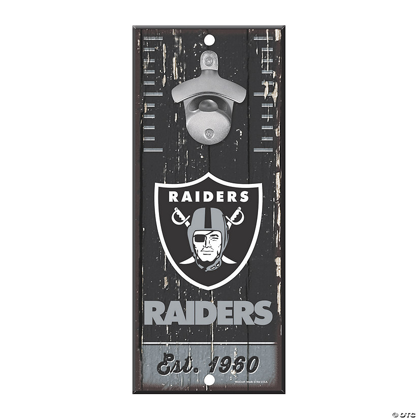 NFL® Oakland Raiders™ Bottle Opener Sign