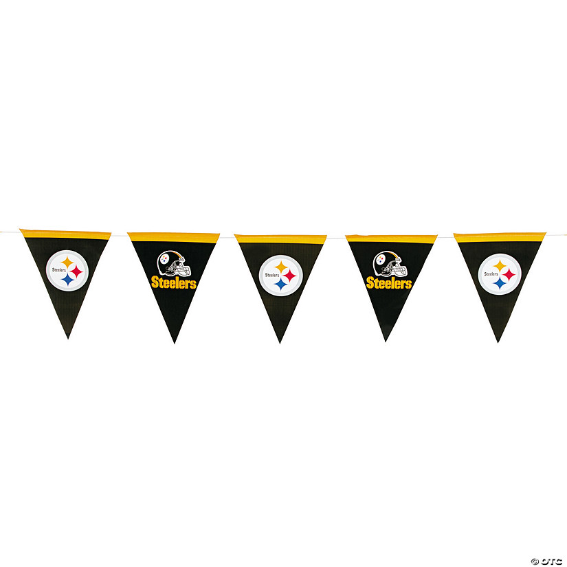 NFL® Pittsburgh Steelers™ Plastic Pennant Banner