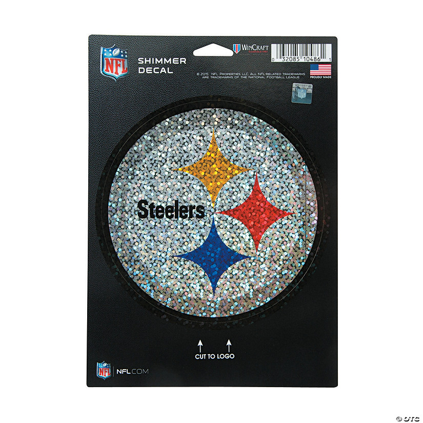 NFL<sup>®</sup> Pittsburgh Steelers<sup>™</sup> Shimmer Decal