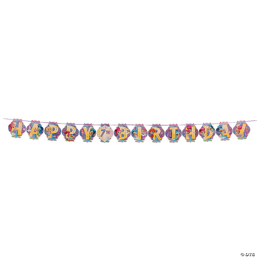 Nickelodeon™ Shimmer & Shine™ Birthday Letter Ribbon Banner