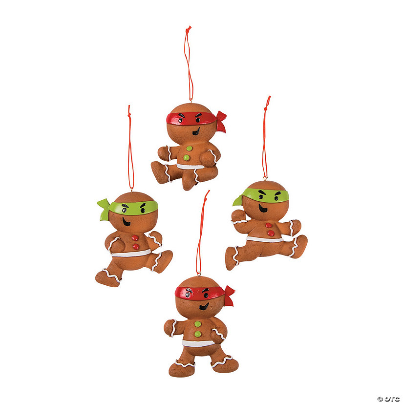 Ninja Gingerbread Man Ornaments
