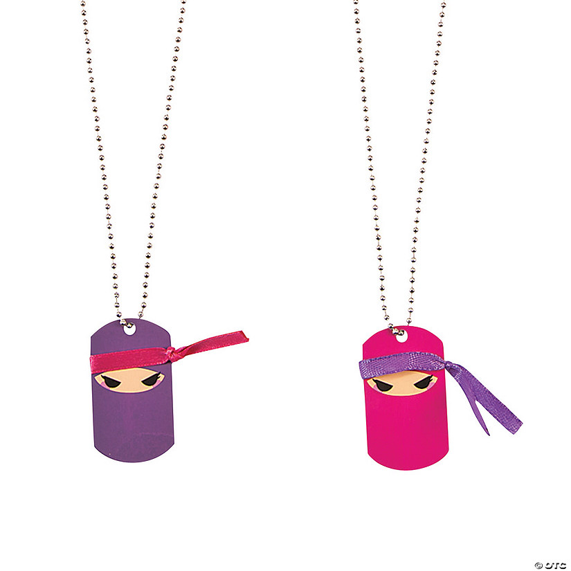 Ninja Girl Dog Tag Necklaces