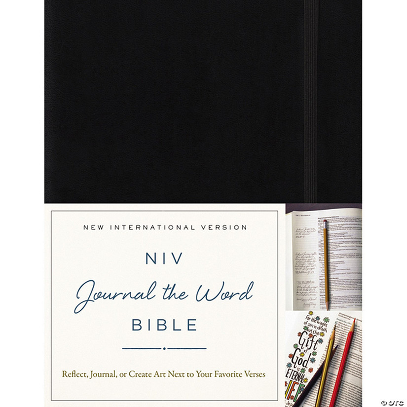 NIV Journal The Word Hardcover Bible-Black